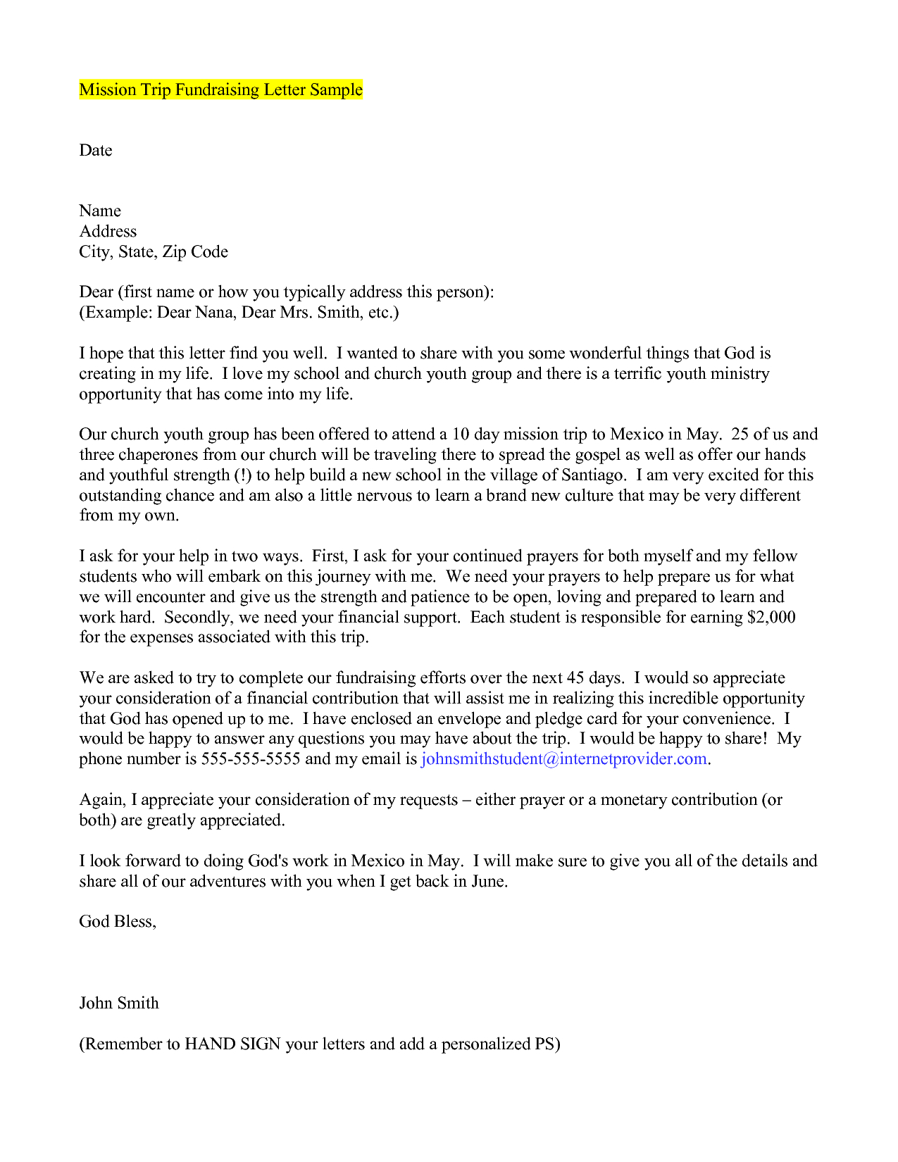 missionary support letter template example-mission support letter template 15-c