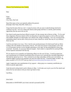 Missions Trip Support Letter Template - Mission Fundraising Letter Template Download