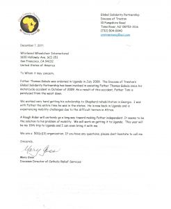 Missions Trip Support Letter Template - Support Letter Template for Missions Collection