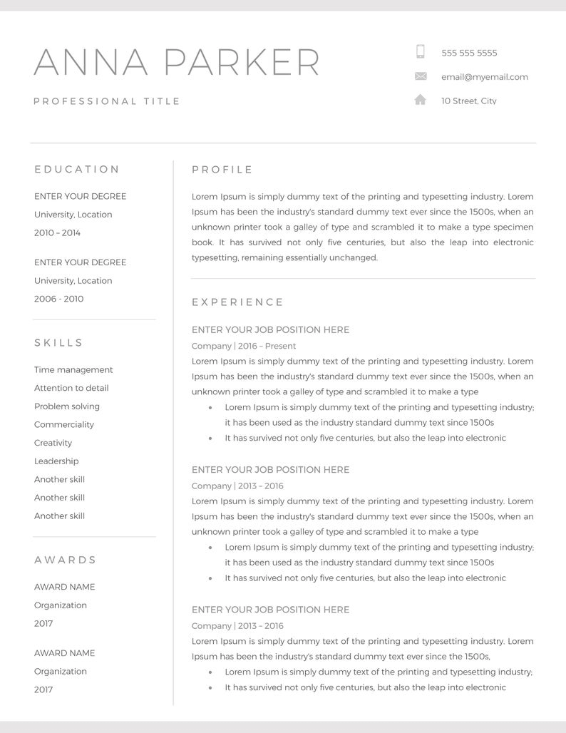 good cv layout  database  letter templates