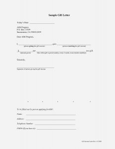 Mortgage Gift Letter Template - Amazing Mortgage Gift Letter Template