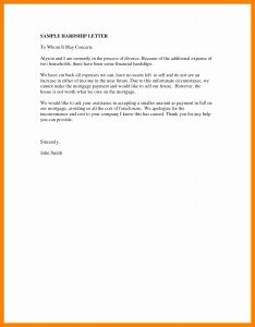 Mortgage Hardship Letter Template - Financial Hardship Letter Template New Perfect Sample A Hardship