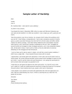 Mortgage Hardship Letter Template - Financial Hardship Letter Template Samples