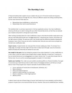 Mortgage Hardship Letter Template - 401k Hardship Letter Template Collection