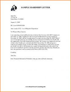Mortgage Hardship Letter Template - 401k Hardship Letter Template Sample