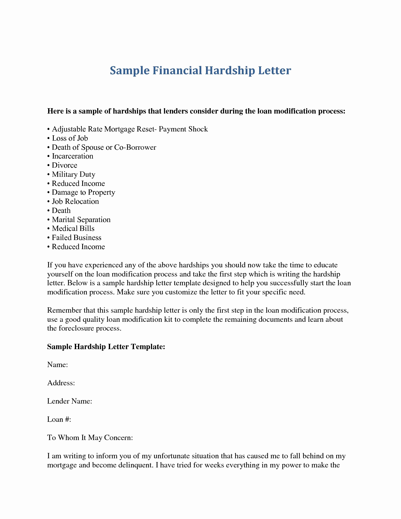 mortgage hardship letter template Collection-financial hardship letter template financial hardship letter template fresh best hardship letter for financial assistance 18r 2-d