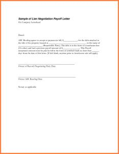 Mortgage Payoff Letter Template - Personal Loan Payoff Letter Template Samples