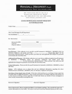 Mortgage Payoff Letter Template - Private Mortgage Payoff Letter Template Examples