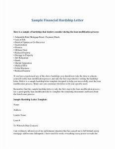 Mortgage Reinstatement Letter Template - Loan Modification Hardship Letter Template Fresh Mortgage Hardship