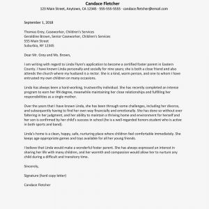 Mothers Day Letter Template - A Sample Reference Letter for Foster Parenting