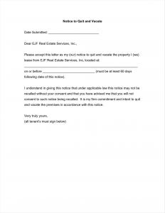 Move Out Letter Template - Giving Notice to Tenants Letter Template Collection