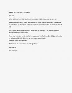 Move Out Letter Template - Farewell Letter Samples and Writing Tips