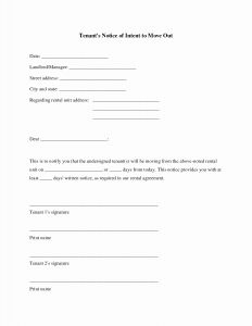 Moving Out Letter to Landlord Template - Move In Out form Pre Initial Inspection top Templates California