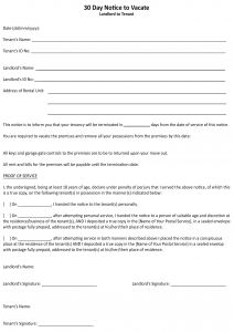 Moving Out Letter to Landlord Template - Giving Notice to Tenants Letter Template top Rated Landlord End