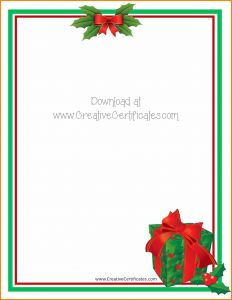 Ms Word Christmas Letter Template - Free Word Holiday Letter Template Valid 9 Christmas Word Template