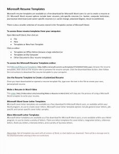 Ms Word Resume Cover Letter Template - Free Resume Templates Word Luxury Elegant Microsoft Word Resume