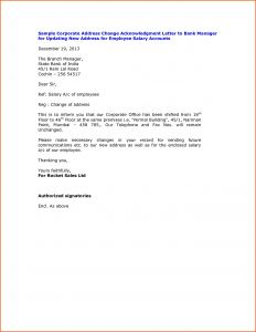 Name Change Notification Letter Template - Letter Template for Change Address Notification Fresh Change