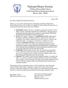 National Junior Honor society Letter Of Recommendation Template - National Junior Honor society Essay Examples New Njhs Certificate