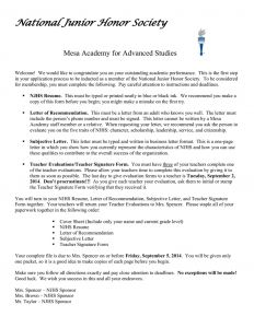 National Junior Honor society Letter Of Recommendation Template - Honor society Resume Nmdnconference Example Resume and Cover