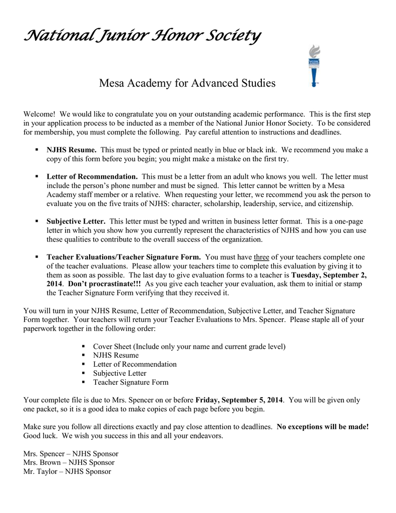 national junior honor society letter of recommendation template honor society resume nmdnconference example resume and