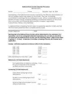 National Junior Honor society Letter Of Recommendation Template - Nhs Letter Re Mendation Template Examples