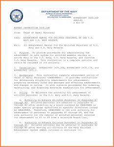 Naval Letter format Template Usmc - Naval Letter format Template Samples