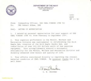 Naval Letter format Template Usmc - Marine Corps Letter Appreciation format Best Marine Corps Letter