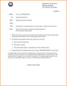 Naval Letter format Usmc Template - Naval Letter format Enclosures Best Navy Memorandum format Sales