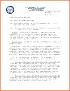 Naval Letter format Usmc Template - Naval Letter format Template Samples