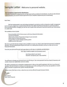 New Client Welcome Letter Template - Wel E Letter New Client Financial Advisor Inspirationa Advisor
