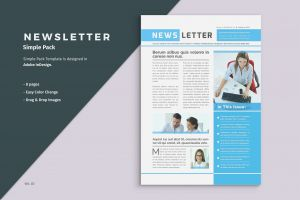News Letter Template - Awesome Newsletter Template Indesign