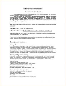 Nhs Letter Of Recommendation Template - Nhs Letter Re Mendation Template Examples