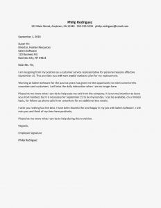 No Known Loss Letter Template - Resignation Letter Samples for Personal Reasons