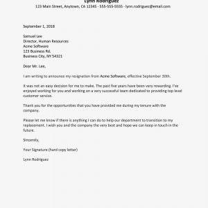 No Known Loss Letter Template - Sample Letters Of Intent to Resign
