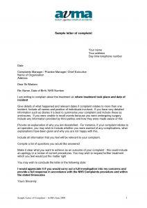 Noise Complaint Letter Template - Letter Plaint Example Download Fresh Reply to Patient Plaint