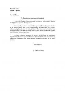 Noise Complaint Letter Template - Neighbour Plaint Letter Template Gallery