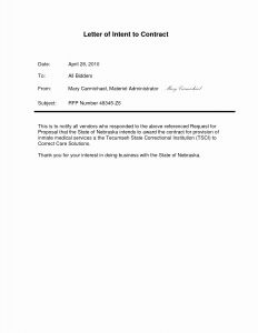 Non Binding Letter Of Intent Template - Letter Intent Contract New Preliminary Agreement Building