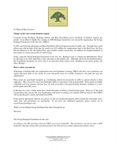 Non Profit Donation Request Letter Template - Non Profit Donation Request Letter Template