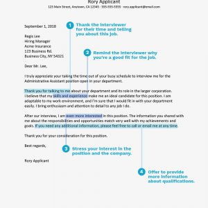 Non Profit Thank You Letter Template - Thank You Letter Example for An Administrative Interview