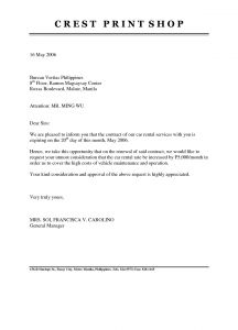 Nonrenewal Of Lease Letter Template - Lease Renewal Letter Template Examples