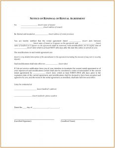 Not Renewing Lease Letter Template - Lease Renewal Letter Template Examples