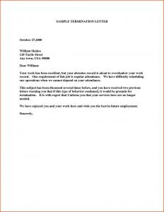 Not Renewing Lease Letter Template - Not Renewing Contract Letter Sample