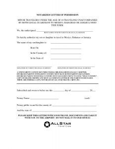 Notarized Letter Template - Example Notarized Letter