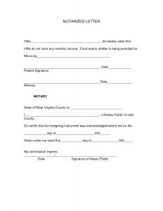 Notarized Letter Template - Notary Letter Template Examples