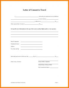 Notarized Letter Template for Child Travel - How to Write A Notary Letter for Child Travel