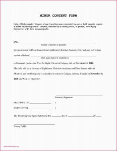 Notarized Letter Template for Child Travel - Permission Letter for Travel Best Notarized Letter Template for