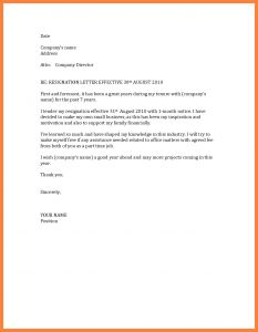 Notice Of Resignation Letter Template - Example Resignation Letter 1 Month Notice Resigning with Od