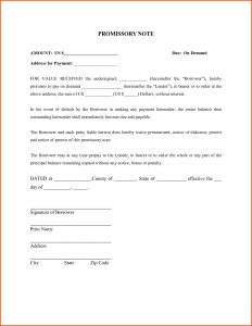 Notice to Cure Letter Template - Promissory Letter Template Examples