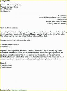 Notice to Vacate Letter Template - How to Write A Letter to Landlord About Moving Out Inspirational