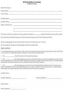 Notice to Vacate Letter Template - Month to Month Lease Termination Letter Template Collection